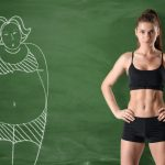 before and after weight loss illustration chalk board in Virginia