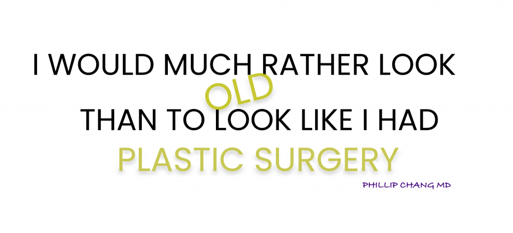 plastic surgery philosophy