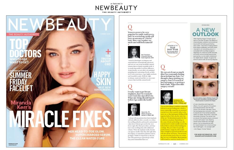 Featured in New Beauty Magazine