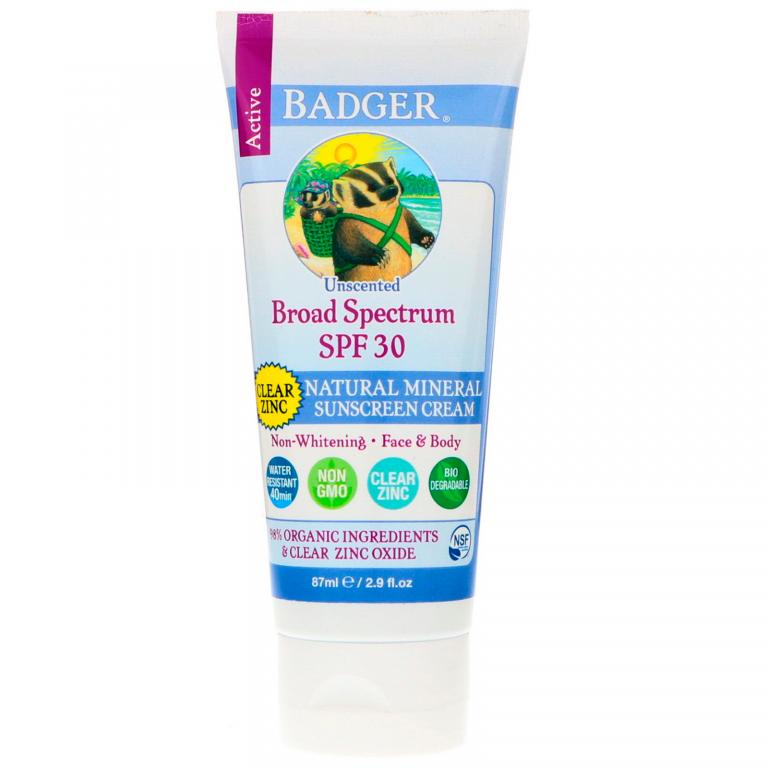 Badger Clear Zinc Sunscreen SPF 30+