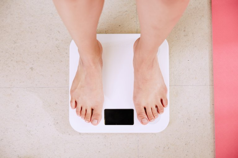 Weight measurement after eating food